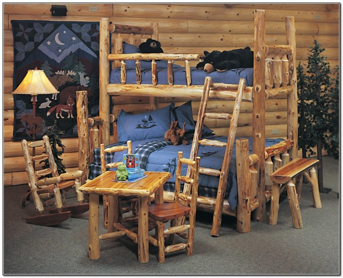 Log Bunk Beds For Kids