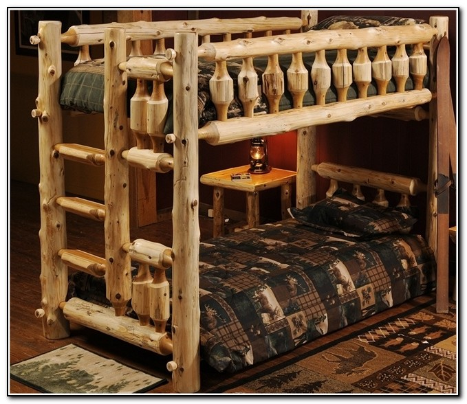 Log Bunk Beds With Trundle