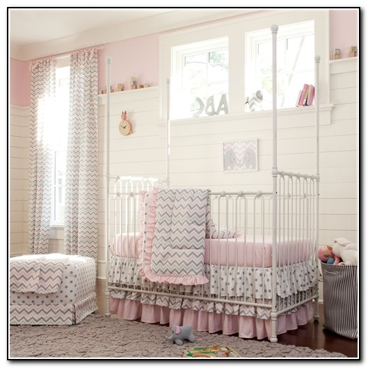 Pink And Gray Baby Bedding Target