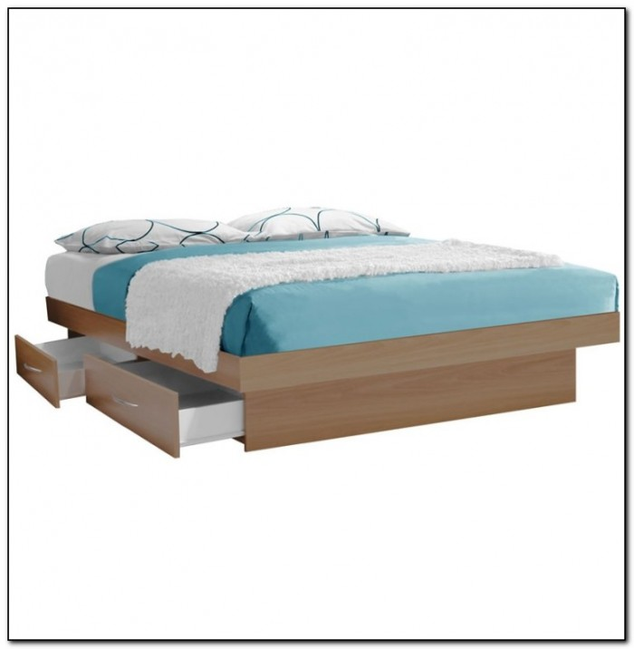 Platform beds with drawers and headboard beds home for Platform bed with drawers ikea