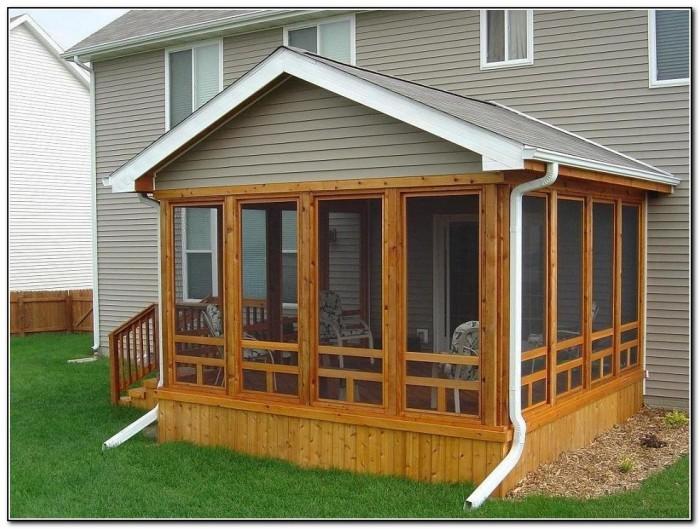 Deck Screen Porch Ideas Porches Home Design