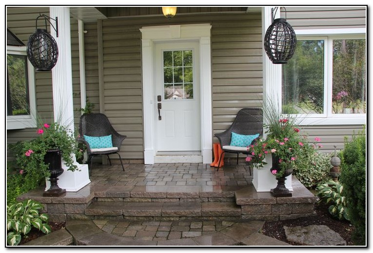 Small front porch decorating ideas porches home design for Front deck furniture ideas