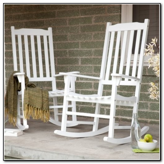 White Porch Rocking Chairs