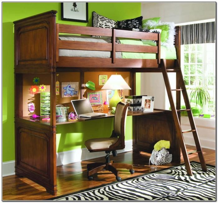 Wood Loft Bed Frame