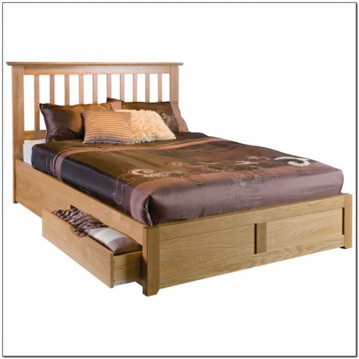Wooden Bed Frame With Storage