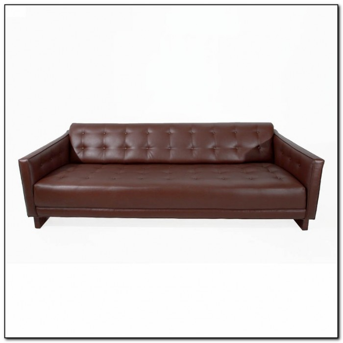 Tufted leather sleeper sofa sofa home design ideas for Tufted leather sleeper sofa