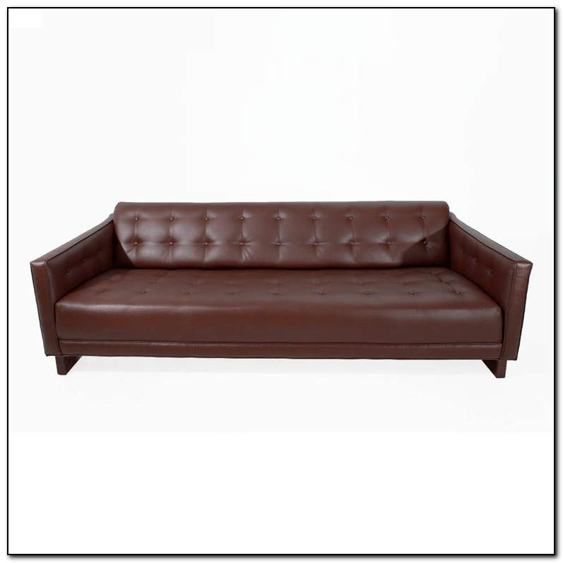 Brown Tufted Leather Sofa