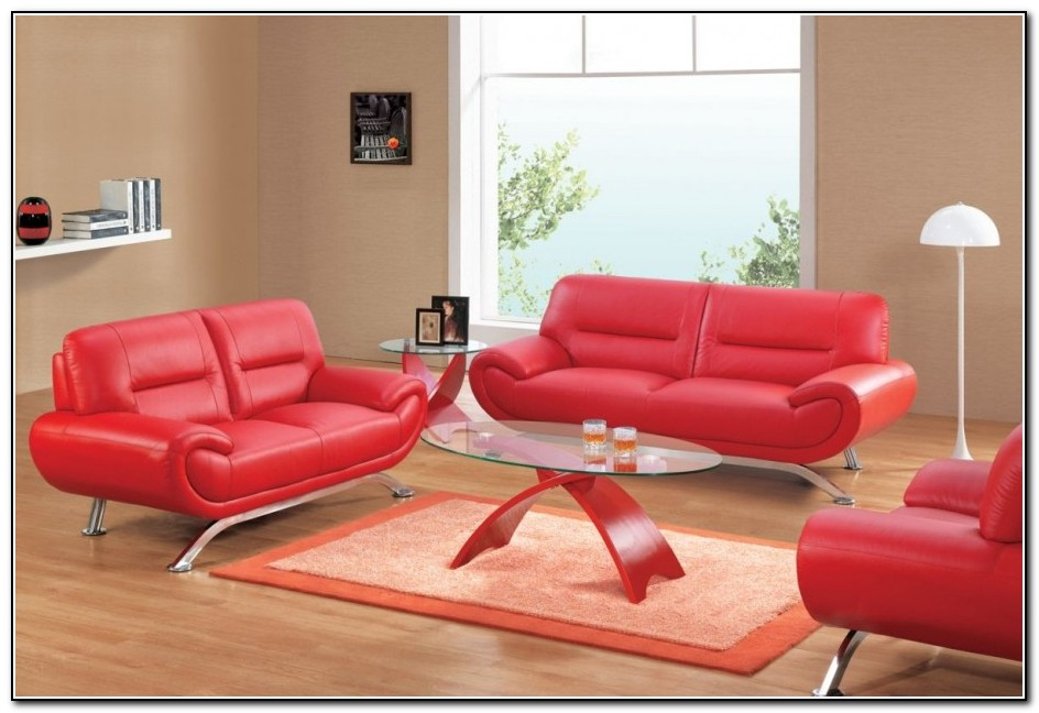 Red leather sofa ikea sofa home design ideas for Red sectional sofa ikea