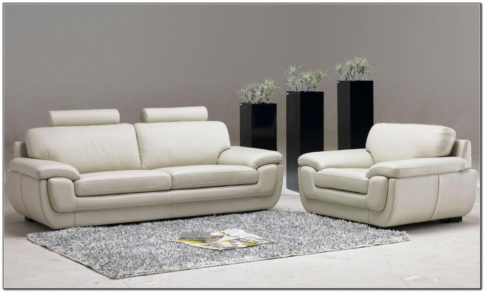 White Leather Sofa Living Room Design