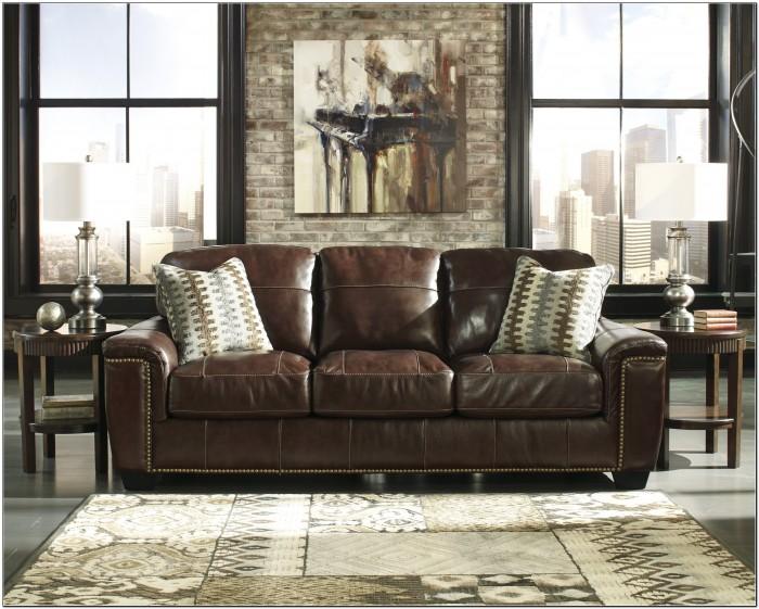 Ashley Top Grain Leather Sofa