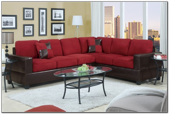 Brick Red Sectional Sofa