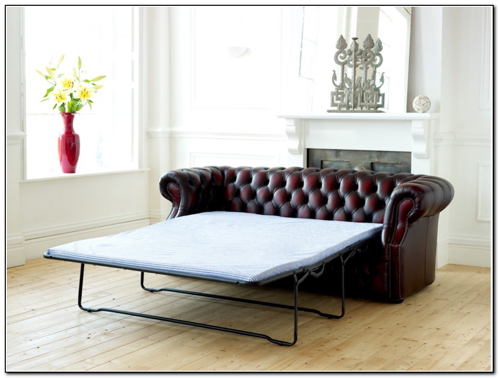 chesterfield leather sofa bed sofa home design ideas. Black Bedroom Furniture Sets. Home Design Ideas