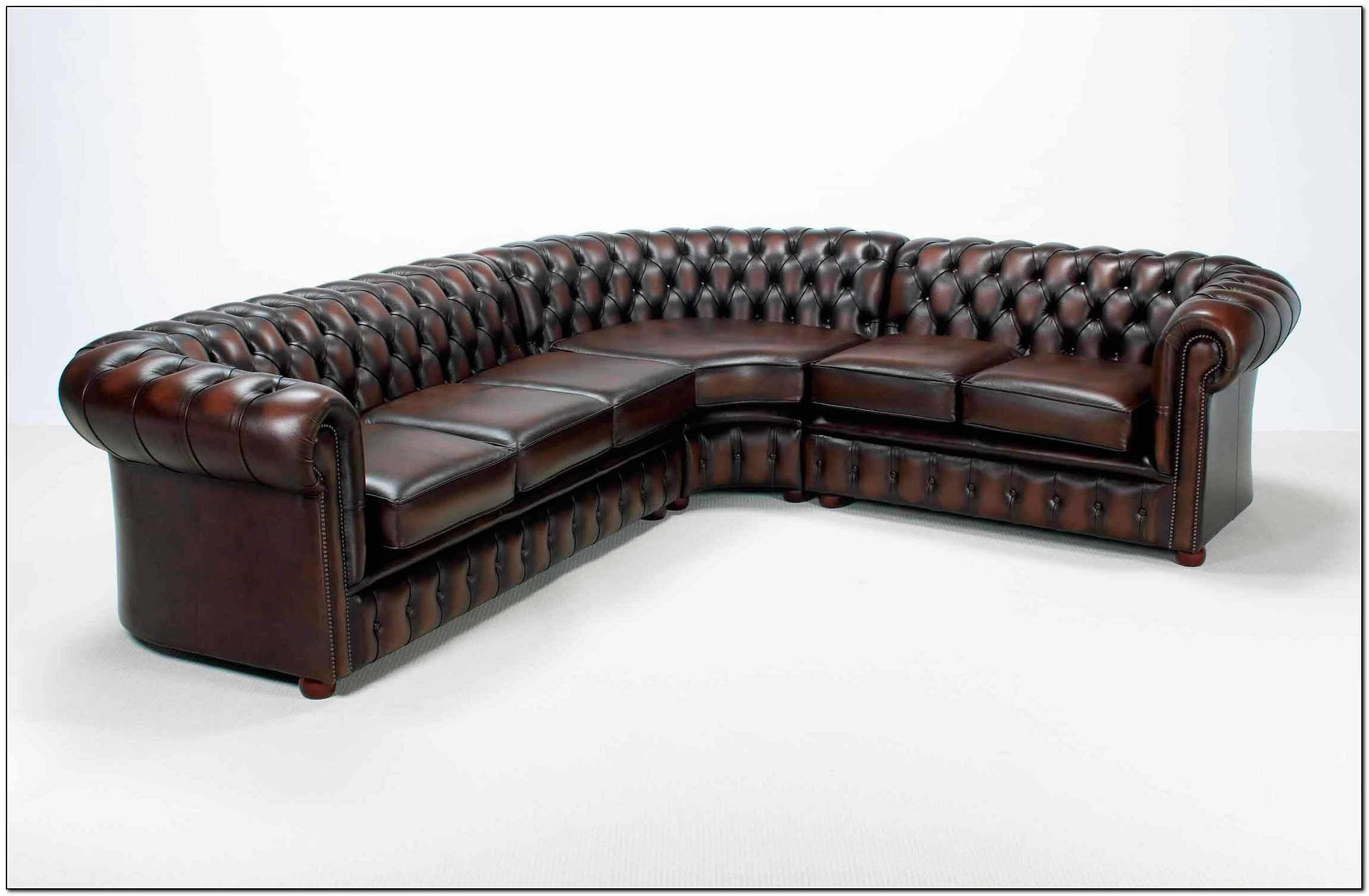 Corner Chesterfield Leather Sofa