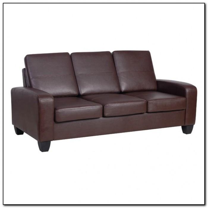 White faux leather sofa sofa home design ideas for Faux leather loveseat slipcover