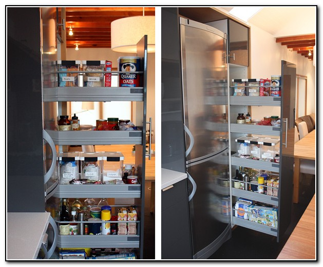 Kitchen Pantry Cabinet Around Refrigerator