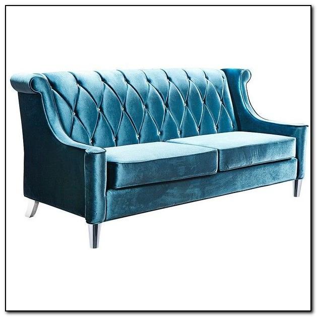 Light Blue Velvet Sofa