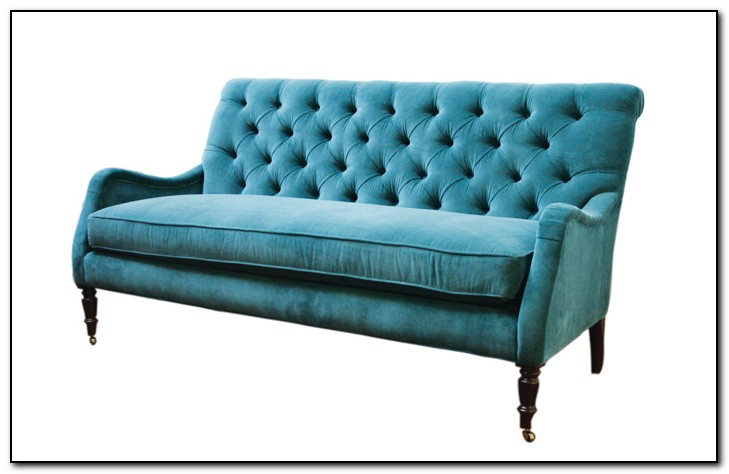 Peacock Blue Velvet Sofa