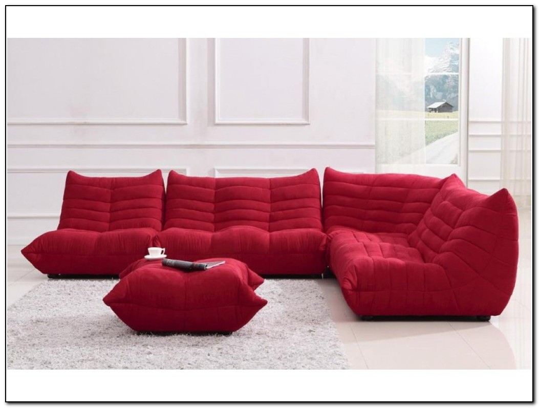 Red Sectional Sofa Microfiber Sofa Home Design Ideas