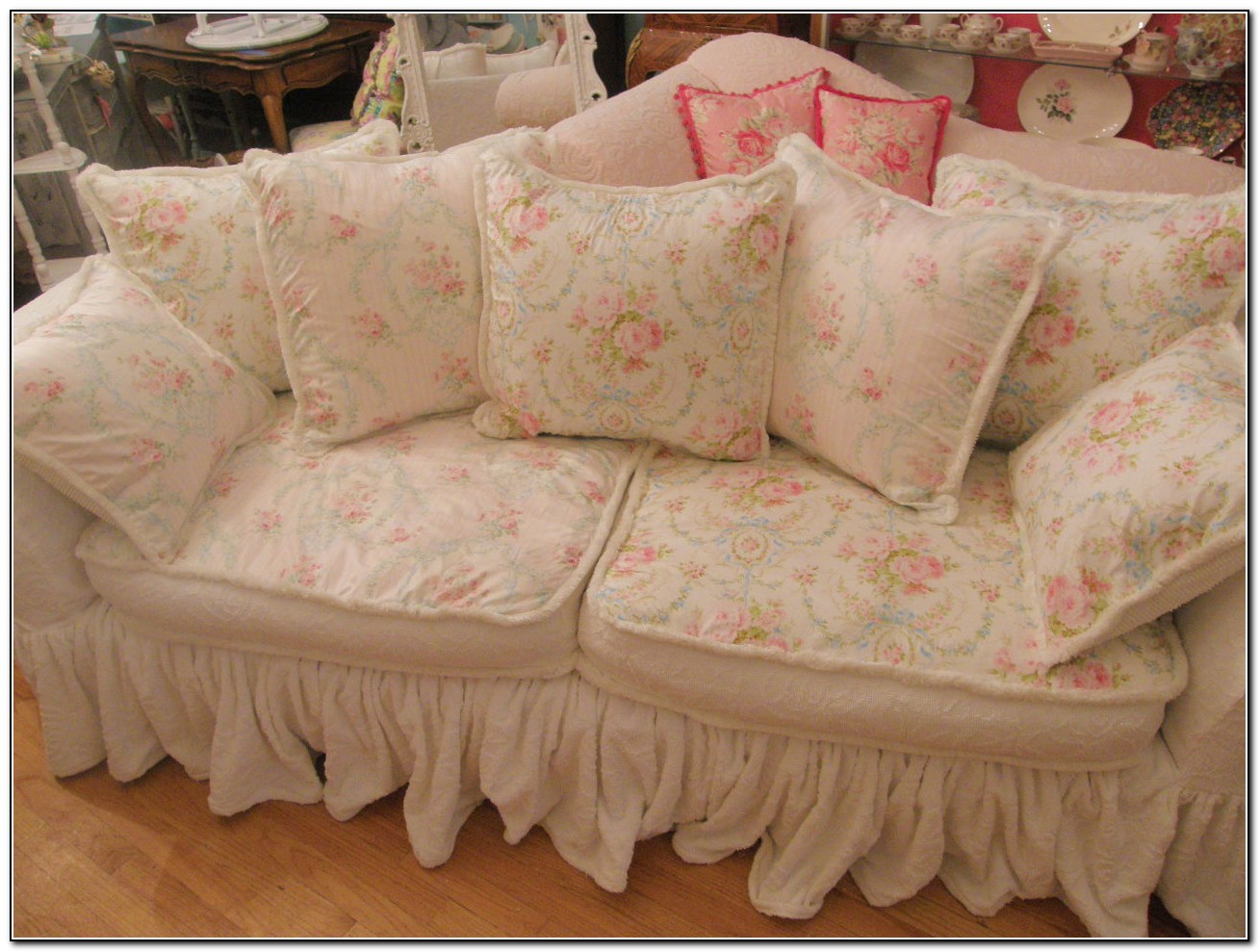 shabby chic sofa covers sofa home design ideas. Black Bedroom Furniture Sets. Home Design Ideas