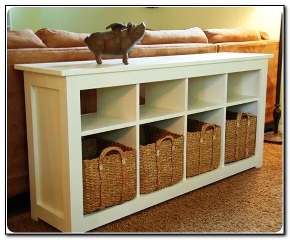 Sofa Table With Storage Bins
