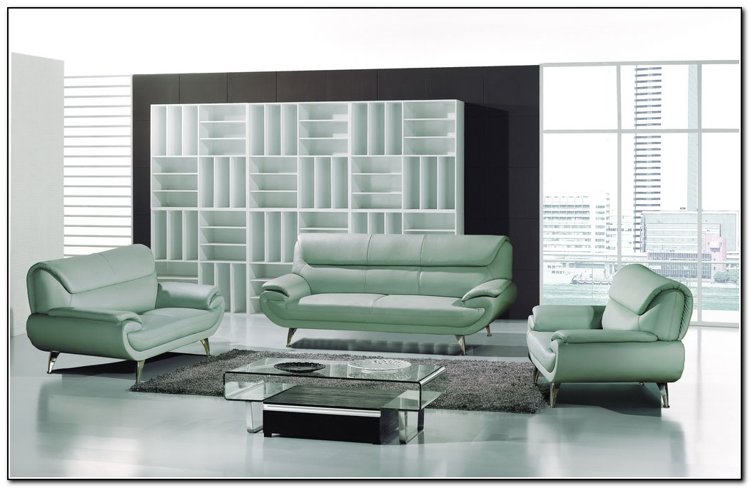 White Contemporary Leather Sofa