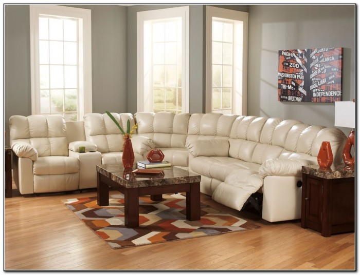 White Reclining Sectional Sofa