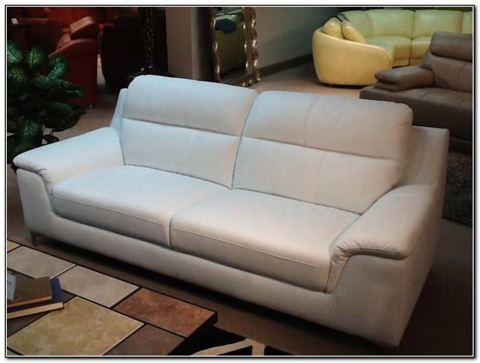 White Top Grain Leather Sofa
