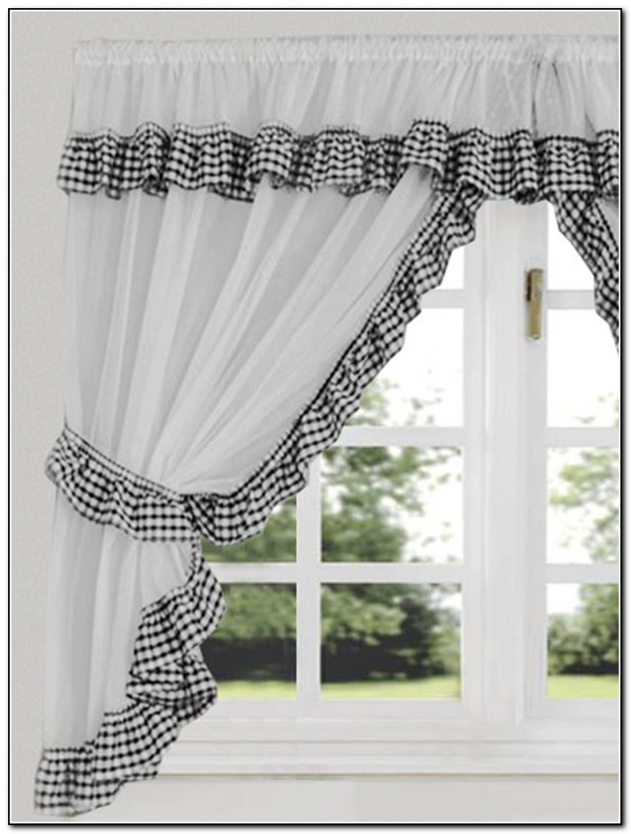 Black And White Kitchen Curtains