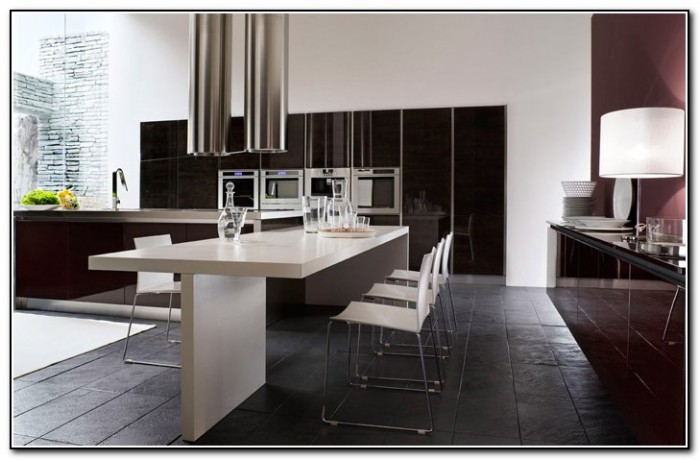 Black And White Kitchen Wallpaper