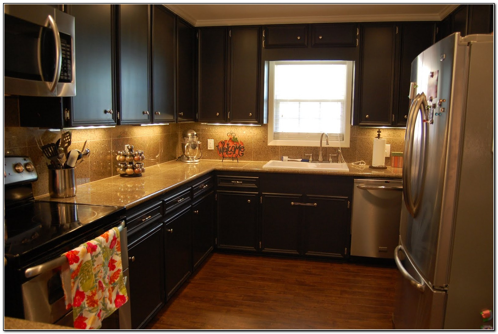 Paint kitchen cabinets black download page home design for Black painted kitchen cabinet ideas