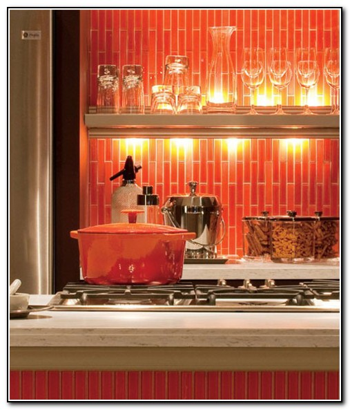 Red Kitchen Backsplash Tiles