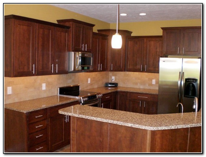 Cherry Kitchen Cabinets Backsplash Ideas