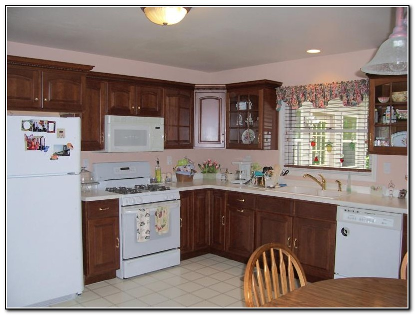 white and cherry kitchen cabinets cherry kitchen cabinets white appliances kitchen home 28452