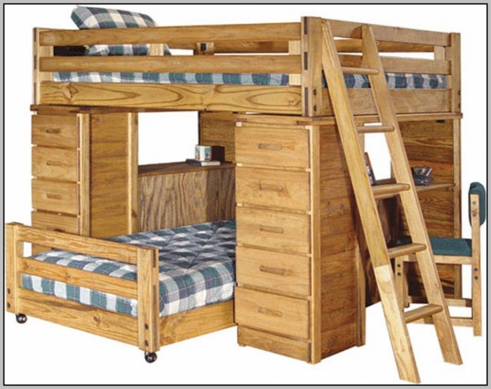 Bunk Beds With Desk Underneath Plans