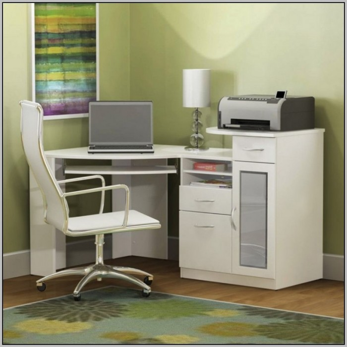 Computer Desk With Hutch And Printer Shelf