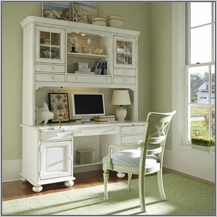 Computer Desk With Hutch White