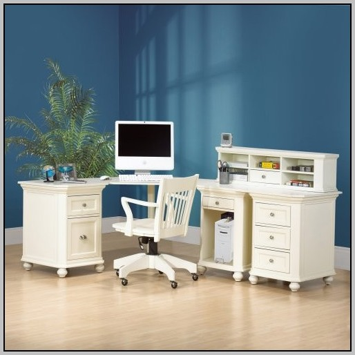 Corner Desk With Hutch White