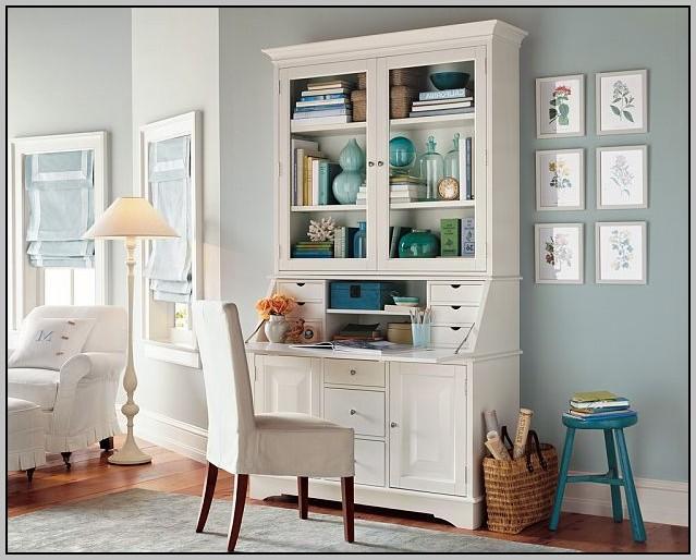 Desk With Hutch White