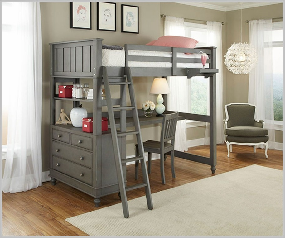 Full Loft Bed With Desk Costco Beds Home Design Ideas
