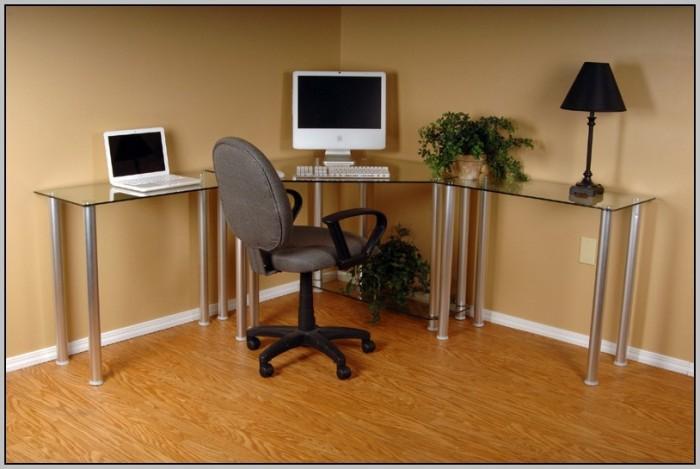 Glass Computer Desk Corner