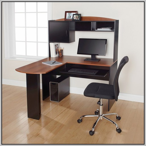 L Shaped Computer Desk With Hutch Walmart