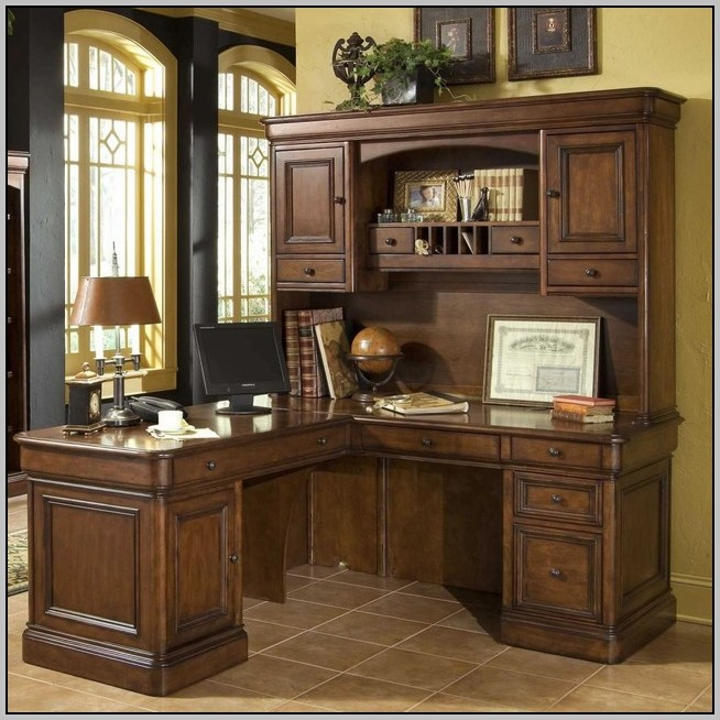L Shaped Computer Desks With Hutch