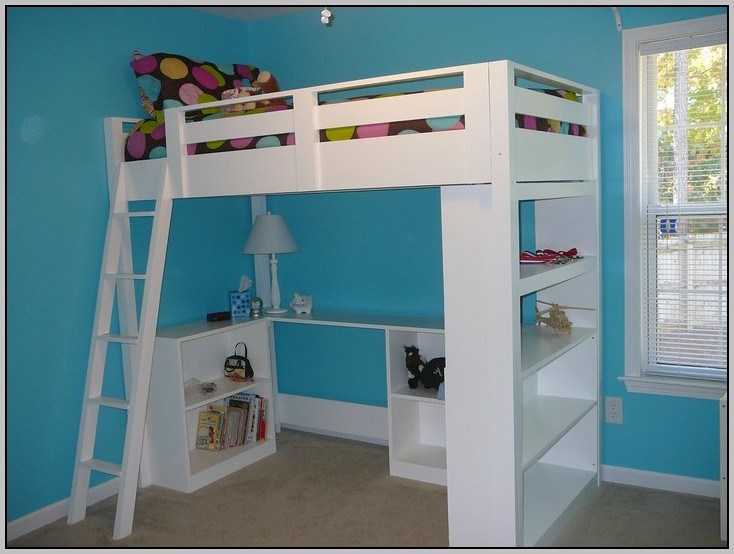 Loft Bed With Desk Ikea Download Page Home Design Ideas