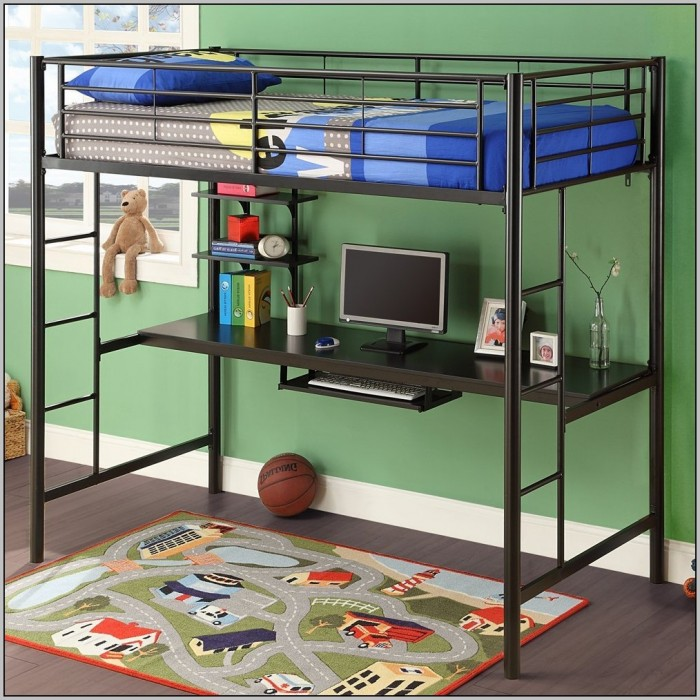 Loft Bed With Desk Underneath And Dresser