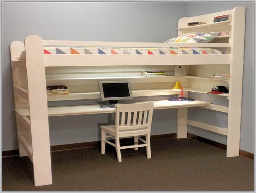 Loft Bed With Desk Underneath Canada Desk Home Design