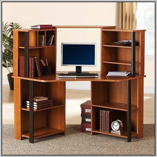 Small Corner Computer Desk With Hutch