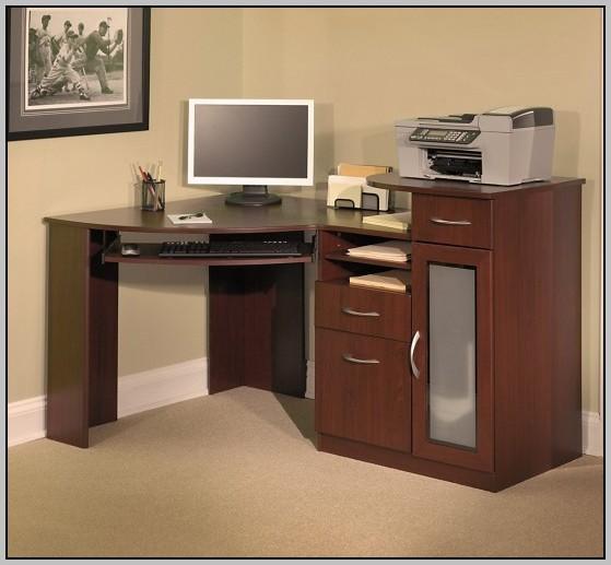 Small Corner Computer Desk With Storage