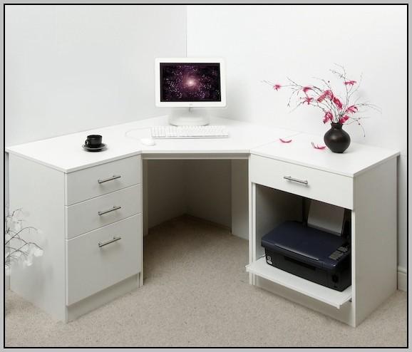 Small Corner Desk White