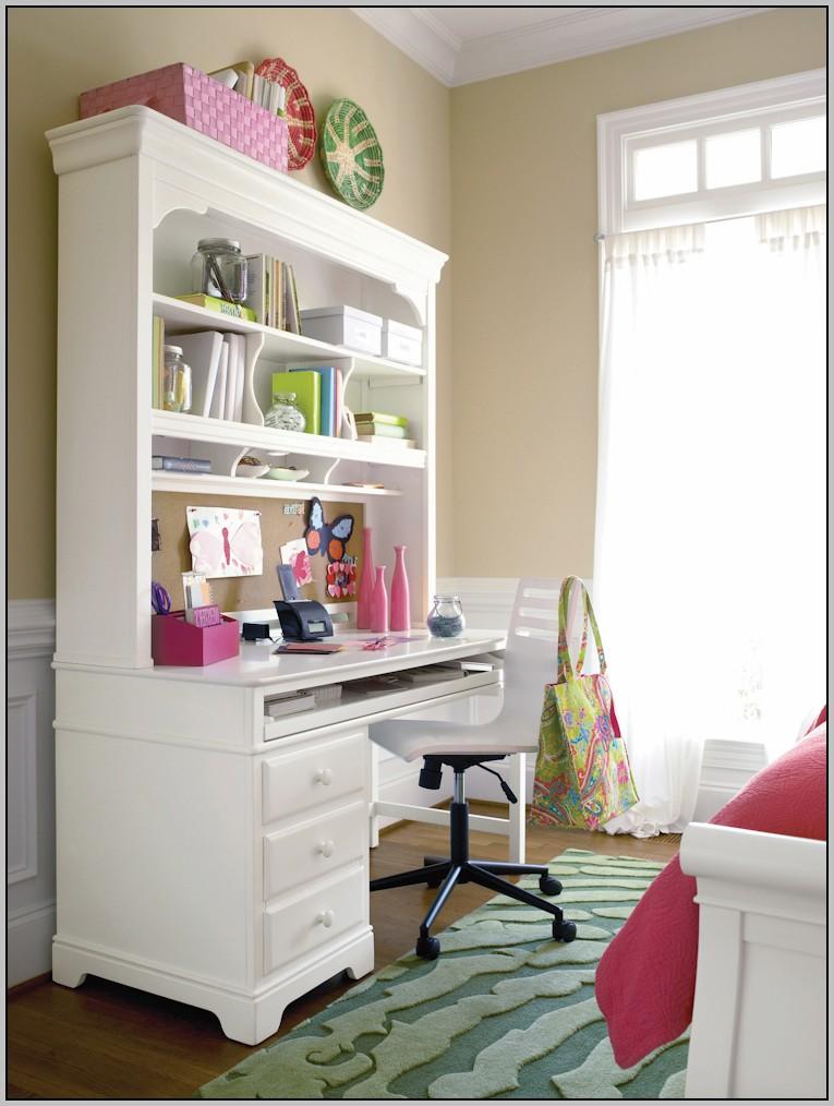 White Desk With Hutch And Cork Board Desk Home Design