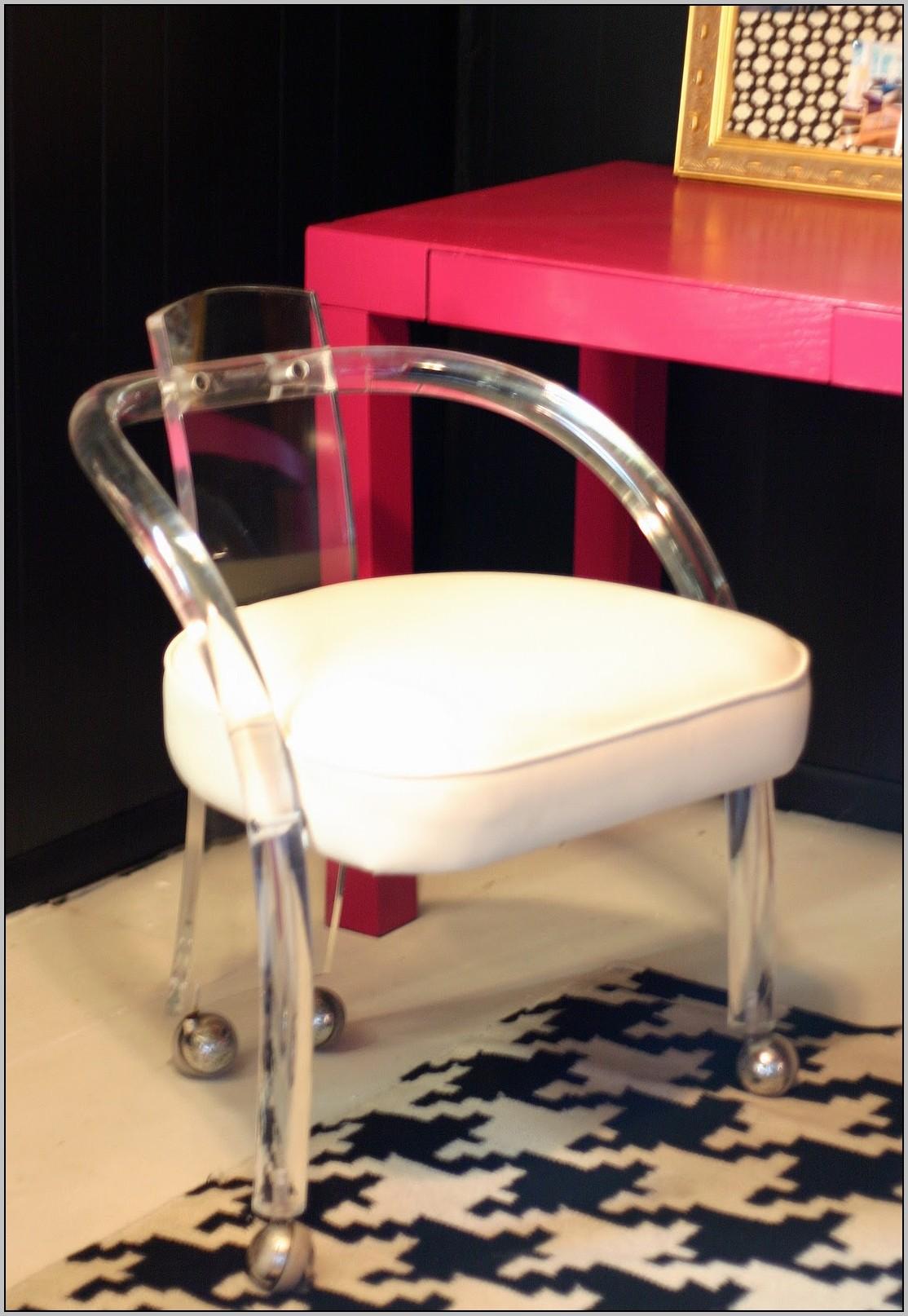 Acrylic Desk Chair Wheels
